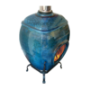 Earthfire Ceramic Blue Raku